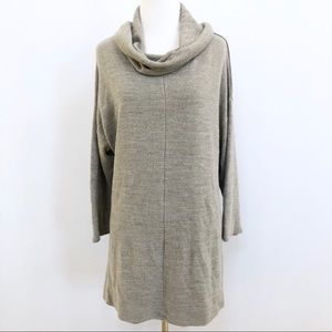 Requirements cowl neck sweater tunic